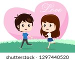 sweetheart  lover cartoon... | Shutterstock .eps vector #1297440520