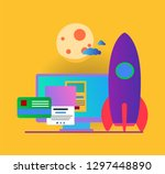 vector infographic with colored ... | Shutterstock .eps vector #1297448890