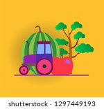 vector infographic with colored ... | Shutterstock .eps vector #1297449193