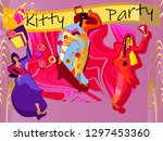 kitty party are popular ways in ... | Shutterstock .eps vector #1297453360