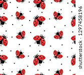 Seamless Pattern With Ladybug...