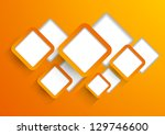 background with orange squares | Shutterstock .eps vector #129746600