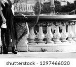 Paris  France. Girl In Black...