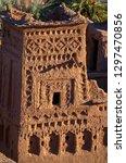 tower of kasbah ait ben haddou...   Shutterstock . vector #1297470856