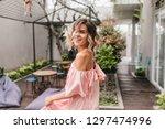 graceful short haired girl... | Shutterstock . vector #1297474996