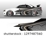 decal car and car wrap vector ...   Shutterstock .eps vector #1297487560