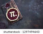 pi day cherry pie   making...   Shutterstock . vector #1297494643