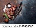 top blade or denver grilled... | Shutterstock . vector #1297495300