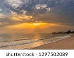 sunset at the beach | Shutterstock . vector #1297502089