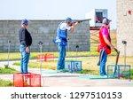 shooting sports. team workouts  ... | Shutterstock . vector #1297510153