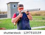 shooting sports. team workouts  ... | Shutterstock . vector #1297510159