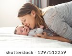 mom and baby having wonderful... | Shutterstock . vector #1297512259