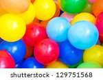 Balloons Of Many Colours In A...