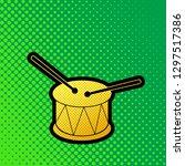 drum sign. vector. pop art...   Shutterstock .eps vector #1297517386