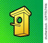 birdhouse sign illustration.... | Shutterstock .eps vector #1297517446
