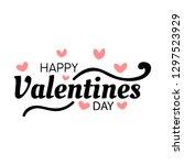 happy valentines day typography ...   Shutterstock .eps vector #1297523929