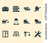 construction icons set with... | Shutterstock .eps vector #1297526026