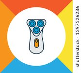 electric shaver icon colored... | Shutterstock .eps vector #1297526236