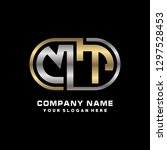 m t initial letter  modern logo ... | Shutterstock .eps vector #1297528453