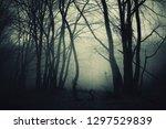dark halloween borest... | Shutterstock . vector #1297529839