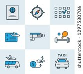 airport icons colored line set... | Shutterstock .eps vector #1297530706