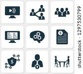 job icons set with upward... | Shutterstock . vector #1297530799