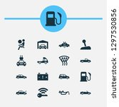 car icons set with fuel  sports ... | Shutterstock .eps vector #1297530856
