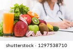 nutritionist workplace  doctor... | Shutterstock . vector #1297538710
