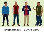 teen boys   Shutterstock .eps vector #129753893
