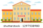 school building  and front yard.... | Shutterstock .eps vector #1297538980