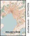melbourne  australia  city map. ... | Shutterstock .eps vector #1297544596