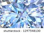 realistic diamond texture close ...   Shutterstock . vector #1297548130