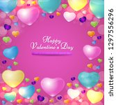 happy valentines day concept... | Shutterstock .eps vector #1297556296