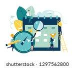 vector illustration. little... | Shutterstock .eps vector #1297562800