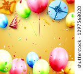 happy birthday party template... | Shutterstock .eps vector #1297568020