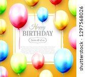 happy birthday greeting card... | Shutterstock .eps vector #1297568026
