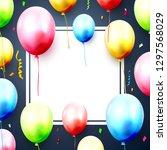 happy birthday greeting card... | Shutterstock .eps vector #1297568029