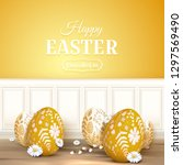 modern easter background with... | Shutterstock .eps vector #1297569490