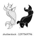 lucky chainese animal isolate... | Shutterstock .eps vector #1297569796