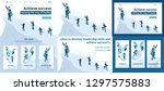 set template article  landing... | Shutterstock .eps vector #1297575883