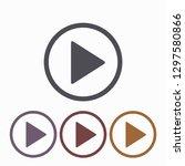 play  vector icon   Shutterstock .eps vector #1297580866