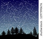hand drawn zodiac signs... | Shutterstock .eps vector #1297590676