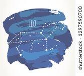 leo hand drawn zodiac sign... | Shutterstock .eps vector #1297590700