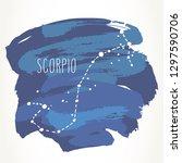 scorpio hand drawn zodiac sign... | Shutterstock .eps vector #1297590706