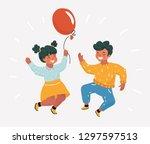 vector cartoon illustration of... | Shutterstock .eps vector #1297597513