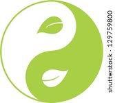 eco yin yang | Shutterstock .eps vector #129759800