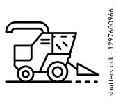 combine harvester icon. outline ... | Shutterstock .eps vector #1297600966