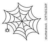 cobweb icon. outline cobweb... | Shutterstock .eps vector #1297601269
