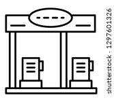 petrol station icon. outline... | Shutterstock .eps vector #1297601326