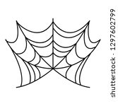 spider web trap icon. outline... | Shutterstock .eps vector #1297602799